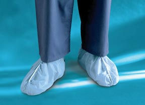 Surgical Shoe Cover, Blue Non-Skid